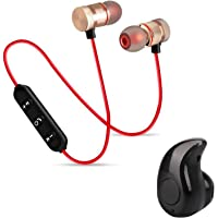 WOXOT Magnetic Wireless Bluetooth Headset Earphone Hands-Free Bluetooth Earphone Headphone for Calling with Built-in Mic for All Smartphones
