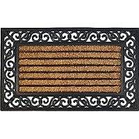 ID mate 4575Coral 85016rectangular natural alfombra Felpudo fibra coco/caucho Beige 75x 45x 1,8cm)