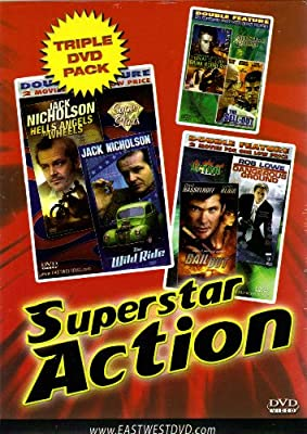"""""""Superstar Action""""Hells Angels on Wheels+The Wild Ride+On Dangerous Ground+Bail Out+The Sell-Out+The Great St. Louis Bank Robbe"""