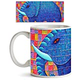 ArtzFolio Blue Elephant : Glossy-finish ...