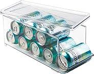 InterDesign Refrigerator Soda Can Organizer – Beverage Holder for Kitchen Cabinet or Pantry, Clear