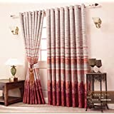 J-Décor Havy Jaqcard 100 % Polyester Curtain panels, with cotton lining Window Curtain (5 Feet)