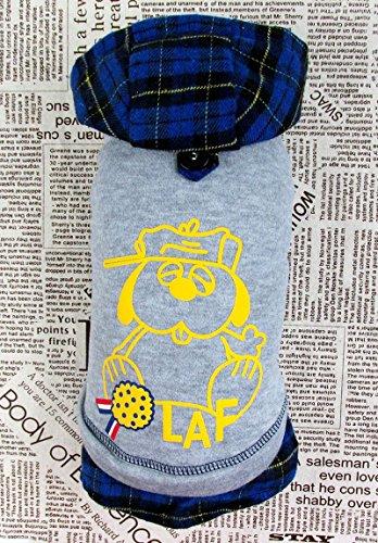 Pet Cat Dog scotland-cartoon Print Winter Fell Jacke Kapuzen Jacke Hooded Pullover Jumper Kleiner Junge Mädchen Hund Kleidung XS S M L XL (Winter Mantel Für Shih Tzu)