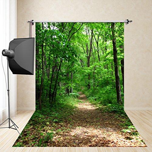 FiVan 5x10ft(150x300cm) rüner Wald photography Hintergrund der Urlaub Porträtfotografie Studiofotografie Requisiten Kinder Nachahmung Seidentuch FD-650