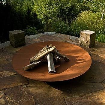 Corten Feuerschale, Stahl, 120 cm, für den Garten: Amazon