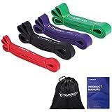 TOMSHOO Motståndsband, band för pull-ups, stretchband för tyngdlyftning, hudvänliga loopade träningsband för fitness och mots