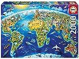 Educa 17129.0 - Mappa Di Monumenti del Mondo 2000 Pezzi