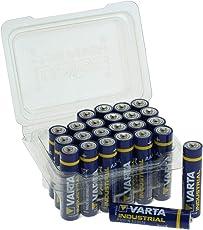 Varta Industrial Batterie AAA Micro Alkaline Batterien LR03-24er Box, Made in Germany