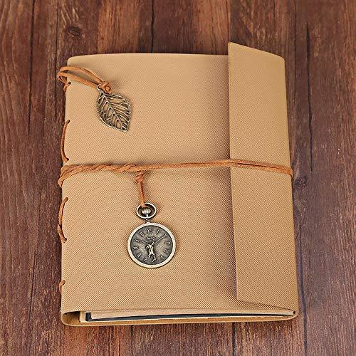 MESTOR Fotoalbum Sammelalbum, Vintage Leder Gästebuch Schrott mit 30 nachfüllbaren schwarzen Seiten Gedächtnisbuch Geburtstagsgeschenk für Frauen ihre Mädchen, Brown -