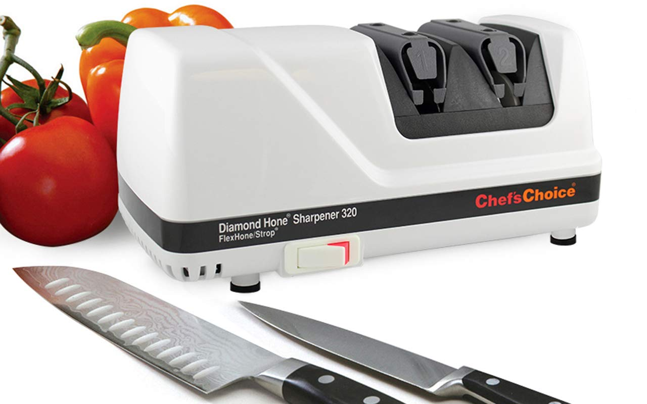 61MeplZY3CL - Chef's Choice Diamond honed two-stage rotary sharpener, Model 320