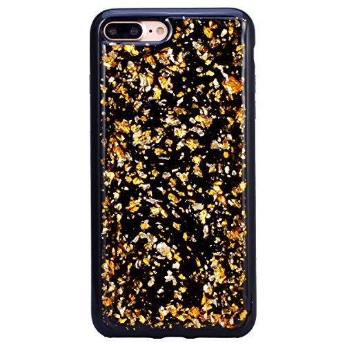 WE LOVE CASE Coque iPhone 7 Plus/iPhone 8 Plus, Paillette Glitter Ultra Fine Souple Gel Coque iPhone 7 Plus Silicone Motif Coque Girly Resistante, Coque de Protection Bumper Officielle Coque Apple iPh Or