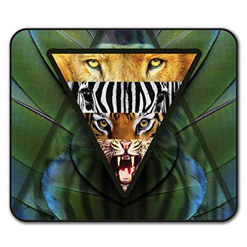 Löwe Tier Mouse Mat Pad, Safari Rutschfeste Unterlage - Glatte Oberfläche, verbessertes Tracking, Gummibasis von Wellcoda