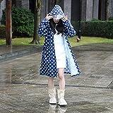 Regenmantel Erwachsene Weibliche Modelle Zu Fuß Poncho Outdoor Einzelnen Mantel Erhöhen Wasserdichte Kleidung (Farbe : Blau, größe : S)