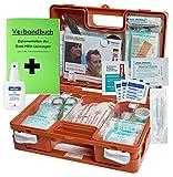Erste-Hilfe-Koffer M1 für den Betrieb DIN 13157 EN 13157 incl. Verbandbuch & Hände-Antisept-Spray