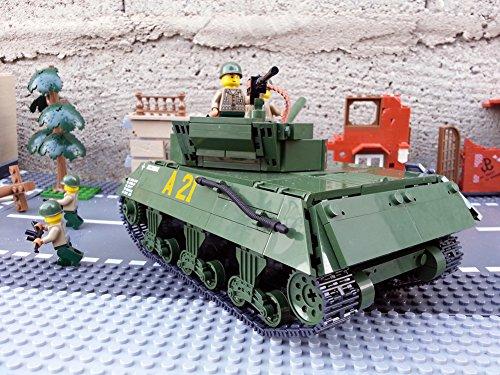 Modbrix 2475 – ★ US ARMY Jagdpanzer M-10 Wolverine Panzer inkl. custom US Army Soldaten aus original Lego© Teilen ★ - 3