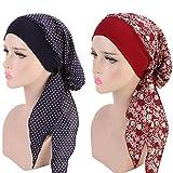 Biback Turbante Cappello Tappo a Cuffia Cotone con Cappuccio a Turbante, Cappello per la chemioterapia con elastico per capelli a fascia elastica per capelli
