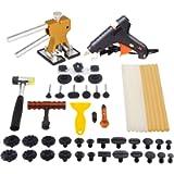 Mookis Kit per la Riparazione delle Ammaccature dei Veicoli con Sistema, 41 Pezzi, con Pistola Incollatrice a Caldo…