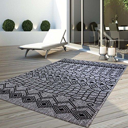 CC Teppich Flachflor Modern Outdoor fest Geknüpft Outside Verschiedene Designs, Größe in cm:160 x 230 cm, Sunset:Vintage-Grau