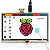 Touchscreen für Himbeere Raspberry, The perseids 5 Inch HDMI LCD 800 * 480 High Resolution for Raspberry Pi 2 Model B/Raspberry Pi Model B/B/A/Raspberry Pi 3 Model B (MEHRWEG)