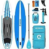 WOWSEA AN14/15 Surfboard aufblasbar Paddle Paddle Board, aufblasbar mit-Größe 305/335 x 81 x 15 cm