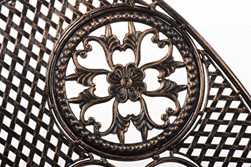 CLP Metall-Gartenbank TJURE im Landhausstil, Eisen lackiert, ca. 140 x 60 cm Bronze - 4