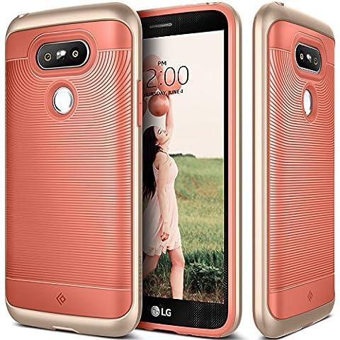 Funda LG G5, Caseology® [Serie Wavelength] Duradero Antideslizante Gota de Protección [Rosa del Coral] para LG G5 (2016) - Rosa del