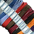 2 mm Round Waxed Cotton Shoelaces - 45 to 120 cm lengths - 18 colours - Thin laces for dress shoes and boots. : everything 5 pounds (or less!)