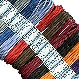 Fabmania Petits lacets ronds en coton ciré - longueurs de 45 à 120 cm - 16 couleurs - Lacets fins pour chaussures habillées et bottes.