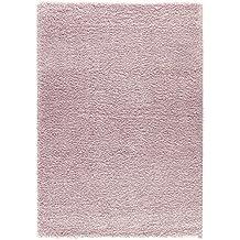 DolceMora Sehrazat Candy Shaggy 270 - Alfombra acrílico, 150 x 80, color rosa