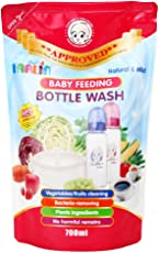 FARLIN Anti-Bacterial Baby Liquid Cleanser for Fruits, Bottles, Accessories & Toys (700ml Refill pack)