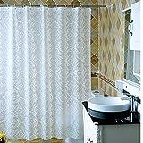 MXueei ZfgG Weißer Wasserdichter Duschvorhang, Verdickte Mehltau PEVA-Umhang-Schatten-Vorhänge, Umweltschutz, Einfach zu Säubern -Dauerhaft (Größe : 120cmx200cm)