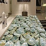 LANYU Boden Tapete Moderne 3D Kieseln Wasser Welle Bodenfliesen Wandbild Aufkleber Wohnzimmer PVC Wasserdichte Verschleißfeste Tapete, 300 * 210 cm