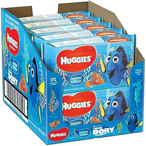 uHuggies - Toallitas húmedas edición especial Disney, dibjos surtidos, 10 unidades x 56 toallitas