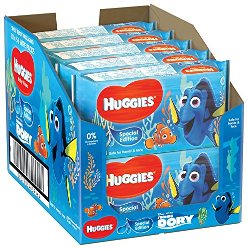 Huggies Baby Wipes, Special Edition Finding Dory – 10 Soft Packs (560 Wipes Total) 61MfhvGBhyL