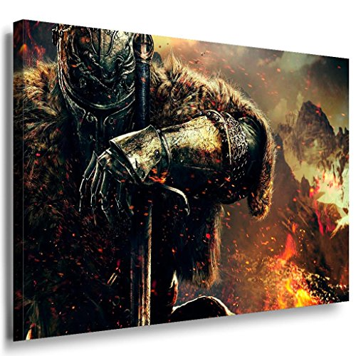 Dark-Souls-Game-Leinwandbild-LaraArt-Bilder-Leinwand-Bild-Mehrfarbig-Kunstdruck-g03-Wandbild