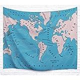 Strand Handtuch, Personalisierte Welt Karte Polyester Tapete für Fenster Vorhang Wand Mauer hanging Tagesdecke Wand Dekoration (229x153cm)