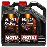 motorenöle Motul 8100 x-clean 5W40, 10 Liters (2x5 lt)