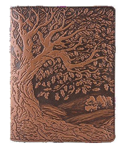 Echtes Leder Zusammensetzung Notebook Cover + Einsatz | 21x 26cm | Baum des Lebens, Sattel | benchcrafted in den USA von Oberon Design