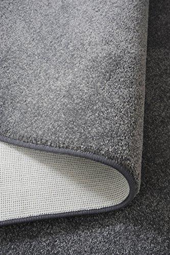 Luxus Hochflor Teppich Prestige - Farbauswahl: Weiß, Beige, Braun, Silber | schadstoffgeprüft pflegeleicht robust strapazierfähig | für Wohnzimmer Schlafzimmer, Farbe:Silber, Größe:200 x 220 cm