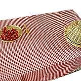 NiSeng Decoration de Table - Nappe de Table en Lin a Carreaux pour Table...