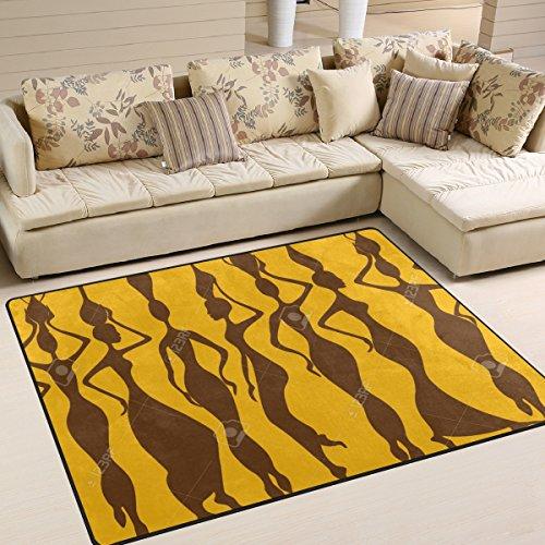 ingbags Super suave moderno mujer africana zona Rugs sala de estar alfombra dormitorio alfombra para niños Play Solid decoración de casa suelo alfombra y Carpets 63x 48cm, multicolor, 80 x 58 Inch