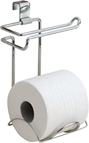 iDesign Classico Toilet Paper Holder for Bathroom Storage, Over the Tank - Chrome