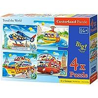 Comparador de precios CASTORLAND Castor País B de 041015–2Travel The World, 4x Puzzle (8+ 12+ 15+ 20) - precios baratos