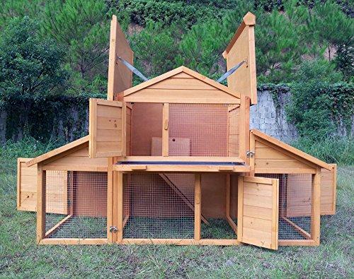 """Kaninchenstall Kleintierhaus Hasenstall Kleintierkäfig Nr. 01 """"Möhrchen"""" mit Seitenflügeln - 4"""