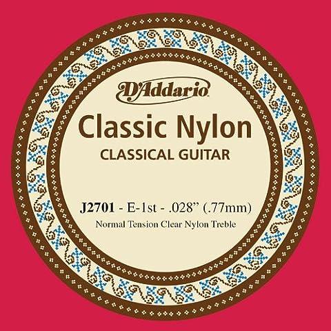 D'Addario J2701 - Cuerda para guitarra clásica de nylon, 1ª cuerda en Mi (tensión media)