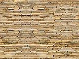 1art1 77390 Mauern - Braune Ziegelsteinmauer, 4-Teilig Fototapete Poster-Tapete 360 x 255 cm