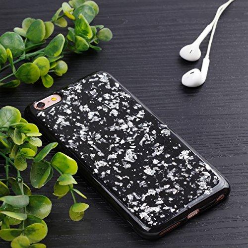 Custodia iPhone 6 Plus, iPhone 6S Plus Cover Silicone, SainCat Cover per iPhone 6/6S Plus Custodia Silicone Morbido, Custodia in Silicone 3D Design Shock-Absorption Custodia Ultra Slim Soft TPU Silico Argento