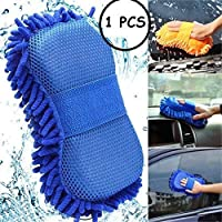 Fariox 2 in 1 Microfiber Car Washing Gloves Car Cleaning Sponge Car Window Cleaning Brush (1PCS)