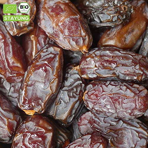 500g Bio Medjool Datteln | 0,5 kg | Königsdatteln | Jumbodatteln | Medjoul Datteln | saftig und...