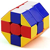 Trade Globe 3x3 Barrel stickerless, Smooth and 3x3 Round Speed Cube Brain Development Puzzle Toy for All Ages (Barrel…
